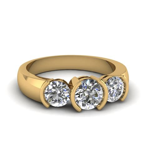alluring  yellow gold  stone engagement rings