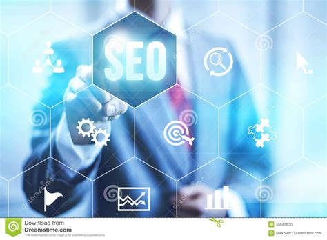 Seo Business Definition by Search Engine Optimization Stock Photo Image 35645630