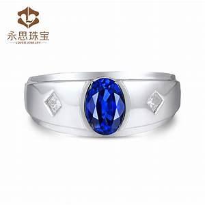Blue Sapphire Mens Ring,Men Style Sapphire Diamond Ring ...