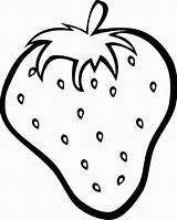 Strawberry Coloring Fresh Strawberries Colouring Clipart Clip Printables Fruit sketch template