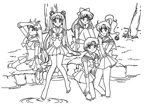Dibujos De Sailor Moon Para Colorear, Pintar E Imprimir Gratis