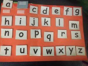 velcro letters With velcro letters
