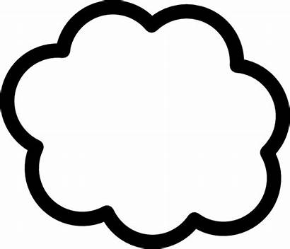 Cloud Clip Vector Clipart Clker Thinking
