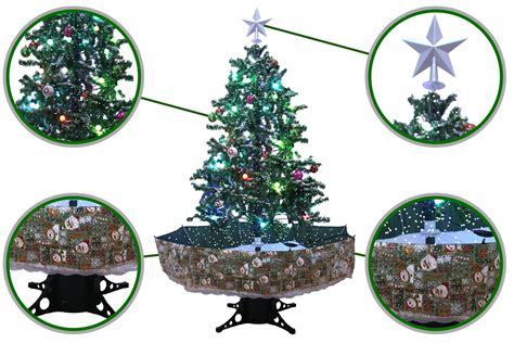snowing christmas trees musical cascading falling snow