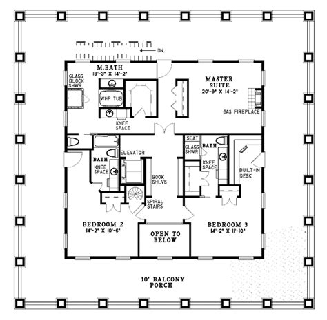 Southern Floor Plans by Southern Style House Plan 3 Beds 3 5 Baths 3130 Sq Ft
