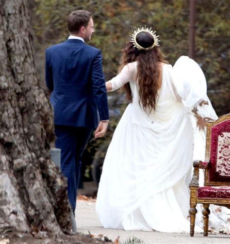 troian bellisarios boho wedding dress   details