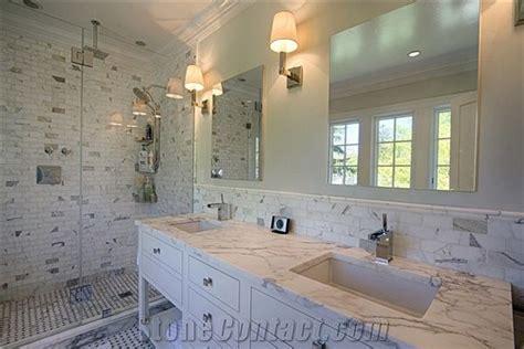 Calcutta Gold Marble Bathroom Vanity Tops, Calacatta Gold
