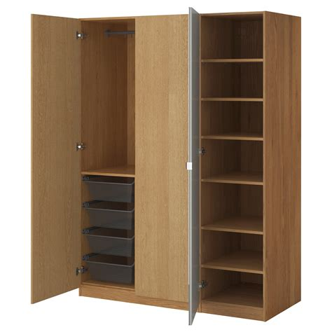 kitchen cupboard interiors pax wardrobe oak effect nexus vikedal 150x60x201 cm ikea