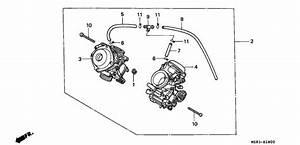 Carburetor For 1997 Honda Nv400 Nv400  Shadow