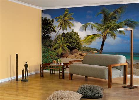 fotooboi na stenu palmy plyazh  komar   praslin