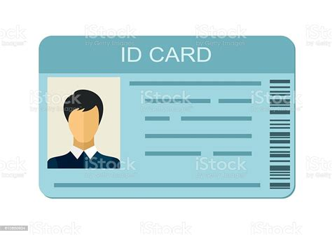 id card isolated  white background business