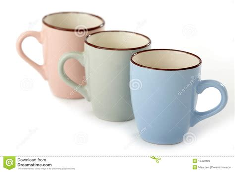 Three Tea Cups Royalty Free Stock Image   Image: 19470106