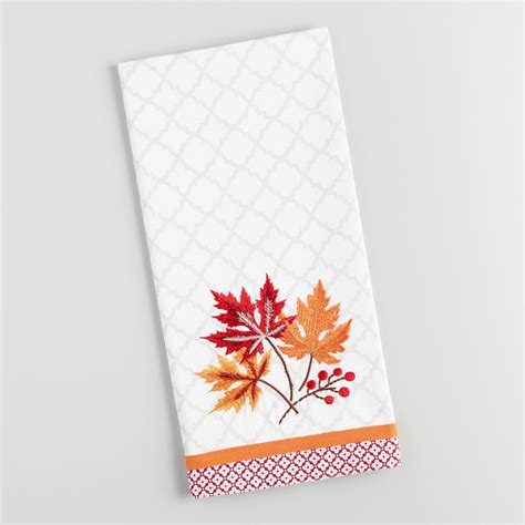 Fall Leaves Embroidered Kitchen Towel  World Market. Traditional Victorian Living Room Furniture. Living Room Table Collections. Living Room Decorating Trends 2015. Living Room Style On A Budget. Twrk Living Room Ft Dangerous. 10 Apartment Living Room Decorating Ideas. Living Room Design Cabinets. Decorating A Living Room With Green Couches