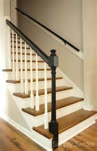 Carpet To Hardwood Stairs by Carpet To Wood Stair Makeover Reveal Simply Swider