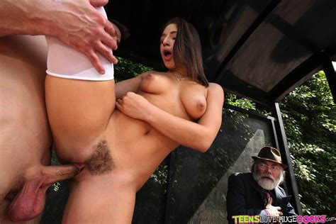 Abella Danger Gets Fucked By A Big Dick At The Bus Stop