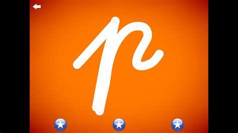 letter p learn  alphabet  cursive writing