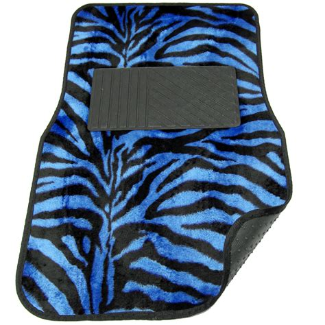 floor mats zebra 4pc full set gray animal print zebra floor mats universal car suv truck van ebay