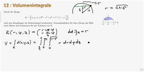 mathe ii  volumenintegrale zylinderkoordinaten