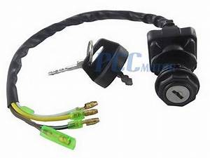 Ignition Key Switch For Kawasaki Bayou 220 Klf 110 220 Atv