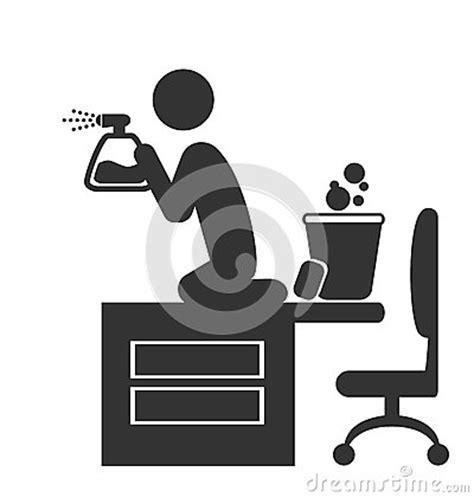 plus d icones sur le bureau icône plate de grand nettoyage de bureau d 39 isolement sur