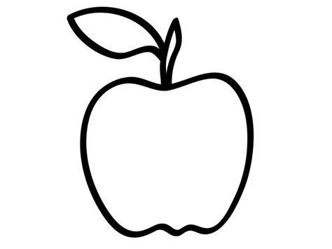 printable apple coloring pages  kids