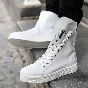2017 Fashion High Top Mens Hip Hop Shoes Lace Up Flats ...