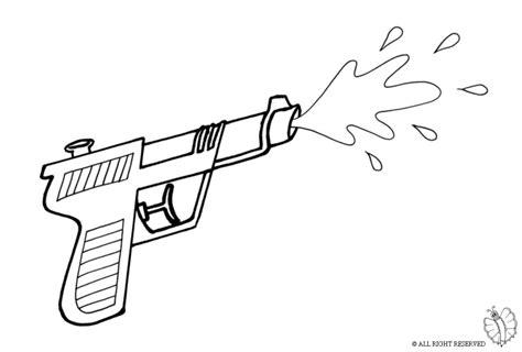 disegni da colorare nerf print water gun for coloring