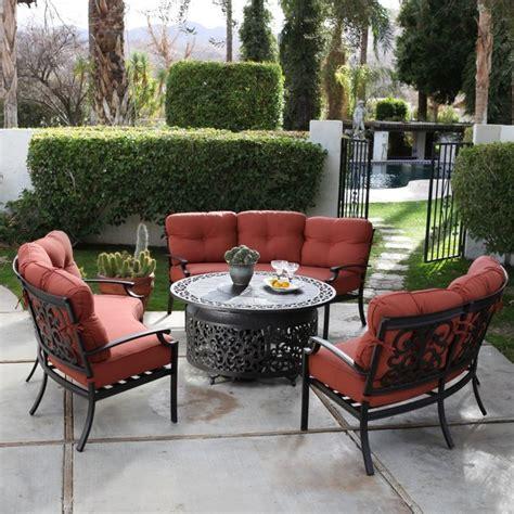 belham living san miguel cast aluminum sofa pit chat
