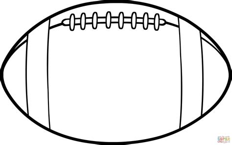 American Football Ball Coloring Page  Free Printable