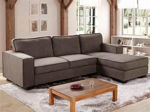 canape angle droit taupe pas cher pour tout type de salon With tapis de course avec canapé d angle nantes