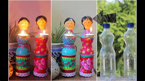 Ideas Using Plastic Bottles by Dolls Diya Using Plastic Bottles For Diwali Decorations