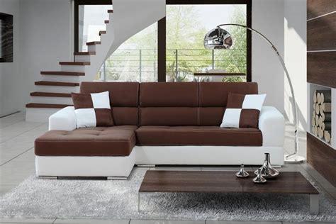 canapé d 39 angle madrid ii cuir pu et microfibre