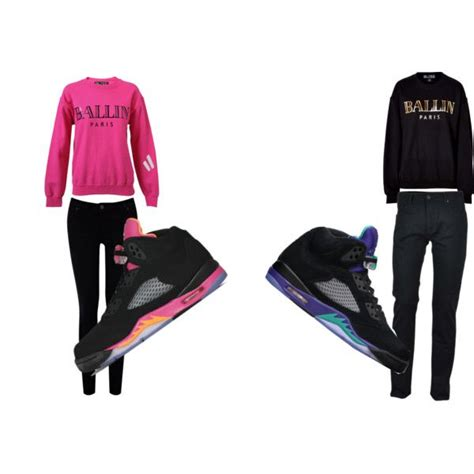 U0026quot;fresh coupleu0026quot; by luxuriousxsavages on Polyvore Cheap Jordan 5 Retro Grape only $59.56 save up ...