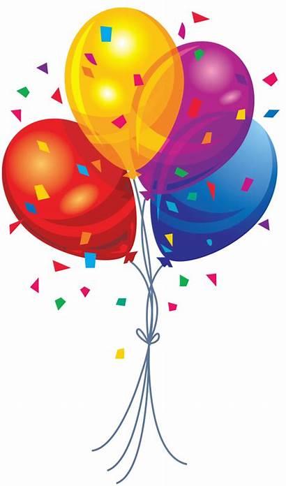 Balloon Clip Clipart Balloons Transparent Cliparts Multi