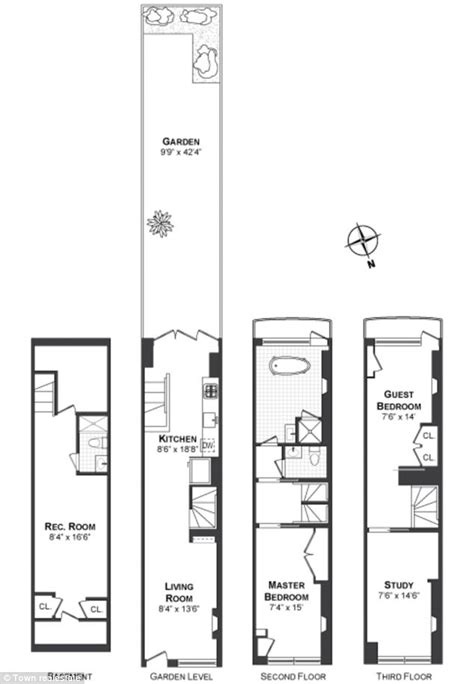 New York House Plans Pictures by Narrowest House In New York Once Owned By Cary Grant
