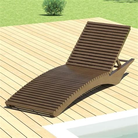 a lounge chair or sun chair designed for outdoor