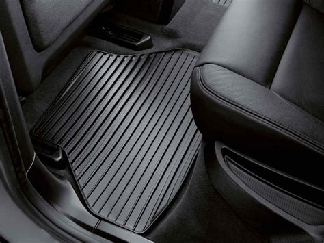 bmw floor mats x5 bmw genuine all weather rear floor mats black e70 x5 51472231955 ebay