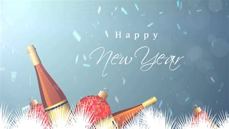 Happy New Year Backgrounds by Happy New Year Chagne Background Motion Background
