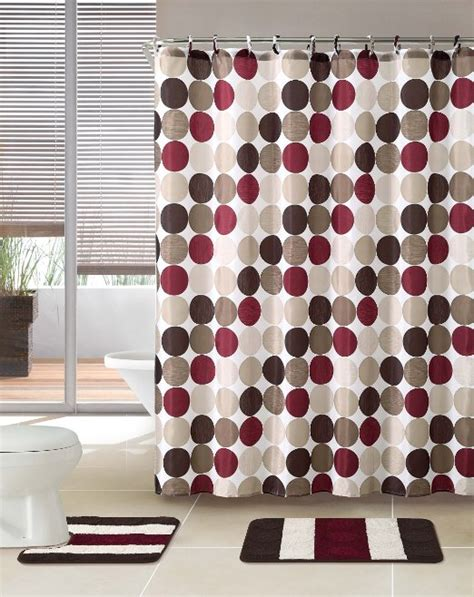 buy 3 bath rug set w shower curtain and matching