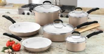 sams club cuisinart ceramic nonstick  piece cookware set   shipped reg
