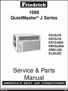 Friedrich Air Conditioner Kl25j30 Users Manual Rac K98