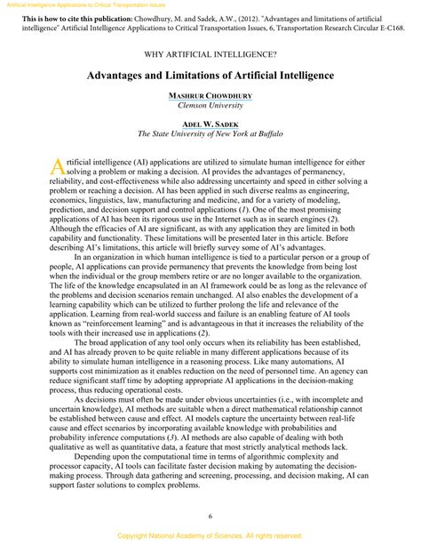 (PDF) Advantages and Limitations of Artificial Intelligence