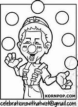 Juggling Coloring Sheet sketch template