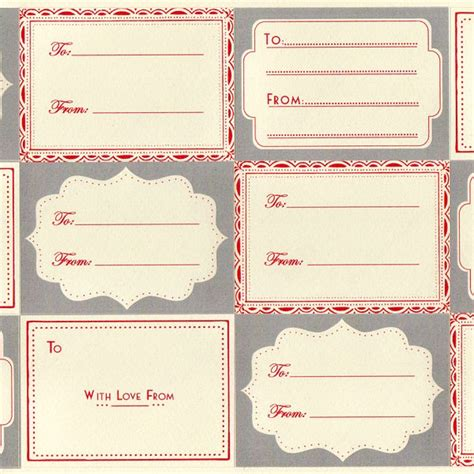 cream grey red    vintage adhesive labels