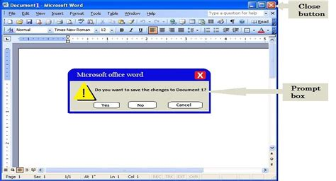 closing document microsoft word 2003 tutorial introduction to ms word