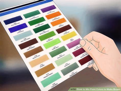 what colors mixed make brown how to mix paint colors to make brown 9 steps with pictures