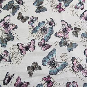 100 cotton butterfly pattern linen fabric for
