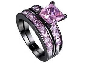 black and pink wedding ring sets black wedding rings design ideas wedding rings model