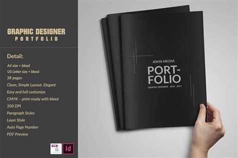 Portfolio Brochure Template Graphic Designer Portfolio Template Brochure Templates