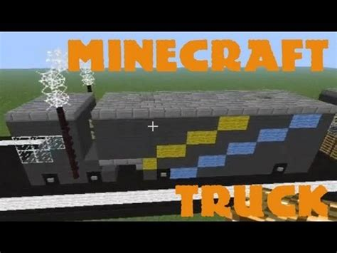minecraft truck stop how to make a truck in minecraft youtube
